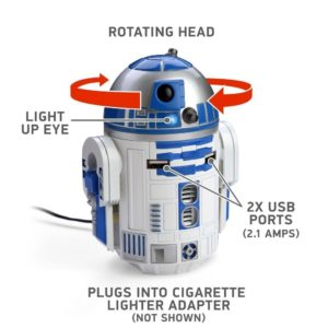 r2d2 caricabatterie macchina