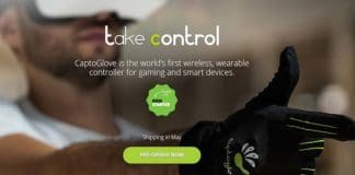 CaptoGlove Guanto Controller Wireless Indossabile