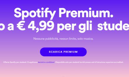 Spotify premium, l'abbonamento per studenti a soli  4,99 € al mese