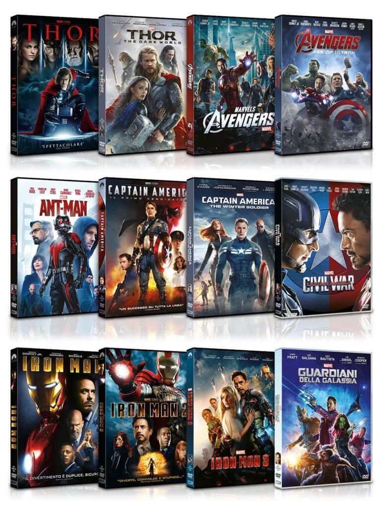 Collezione 12 film Marvel