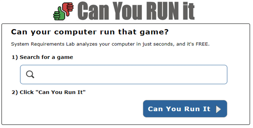 Can You RUN It: come scoprire se un gioco gira sul PC