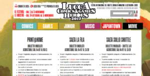 biglietti lucca comics & games 2017