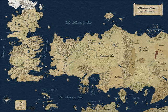 Mappa Game of Thrones