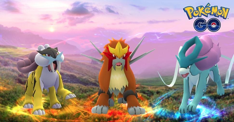 Pokémon GO: arrivano Raikou, Entei e Suicune