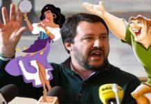 Salvini punisce il figlio. Stava guardando il Gobbo di Notre Dame