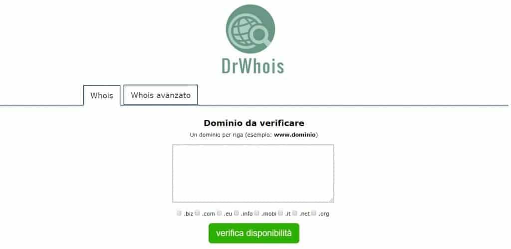 DrWhoi Verifica Dominio
