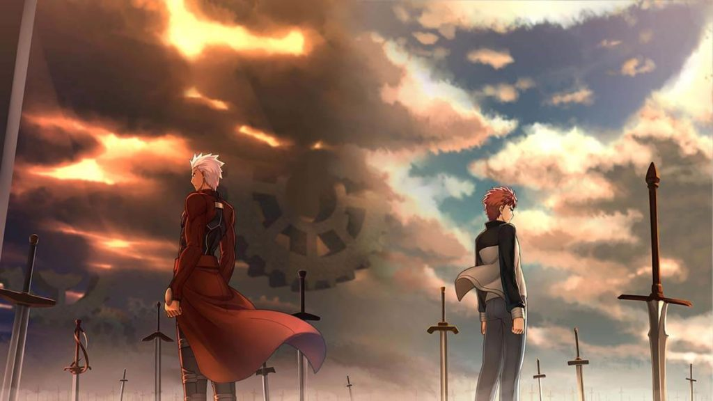 Fate Stay Night Unlimited Blade Works Shirou Emiya e Archer