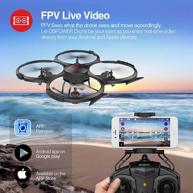 Drone DBPOWER U818A fpv